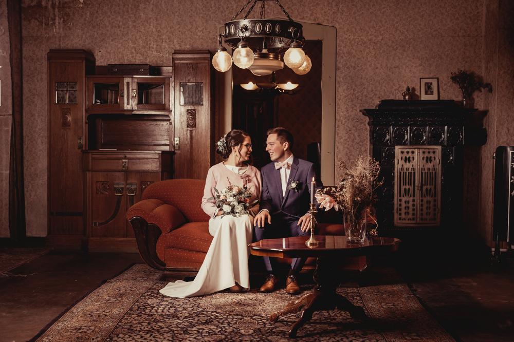 vintage brautpaarshooting plauen haus 77 hochzeitsfotograf