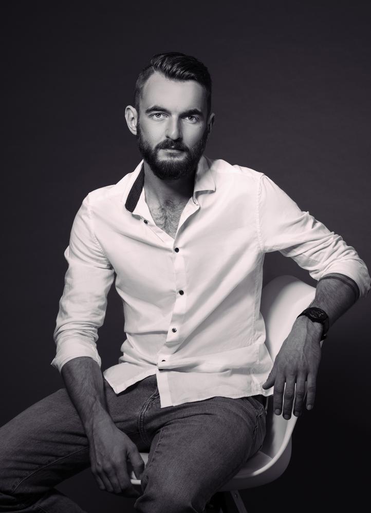 Men Männer Fotoshooting schwarz weiß cool modern Fotograf Plauen